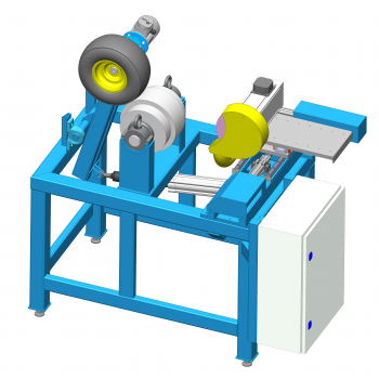 Grinding machine for pellet press roll